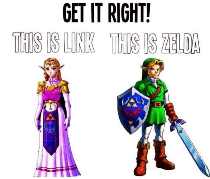 Memes The legend of Zelda the difference between link and Zelda