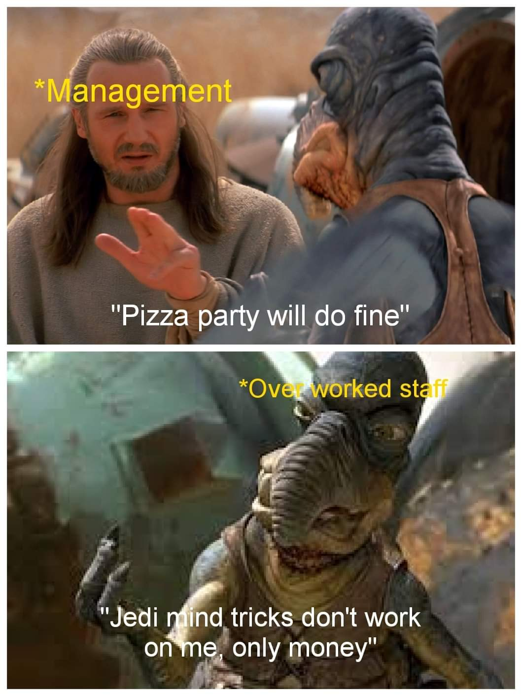 Memes Pizza party at work