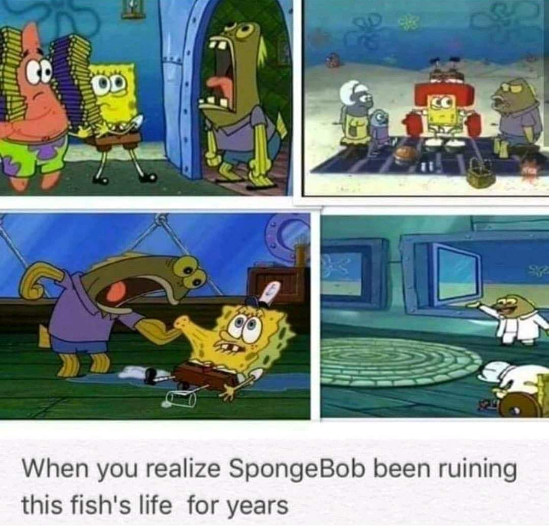 Memes crazy fish SpongeBob SquarePants