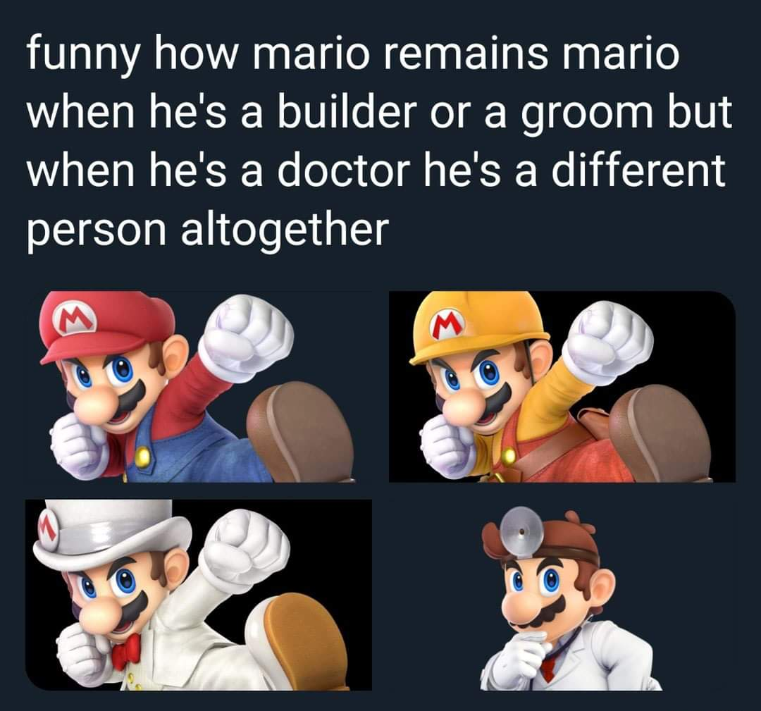 Memes difference between Mario and Dr. Mario