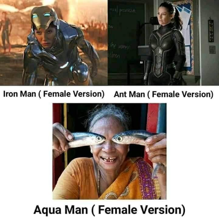 Memes Iron Man Ant-man Aquaman