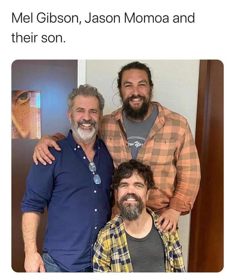 Memes Mel Gibson Jason Momoa Peter Dinklage