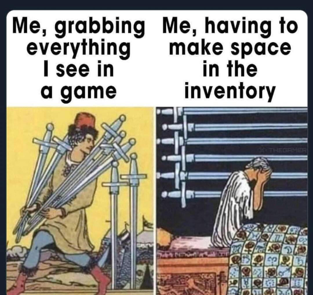 Memes grabbing loot in video games