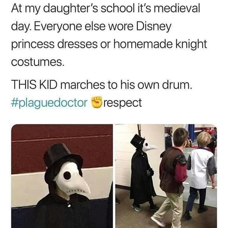 Memes plague doctor costume