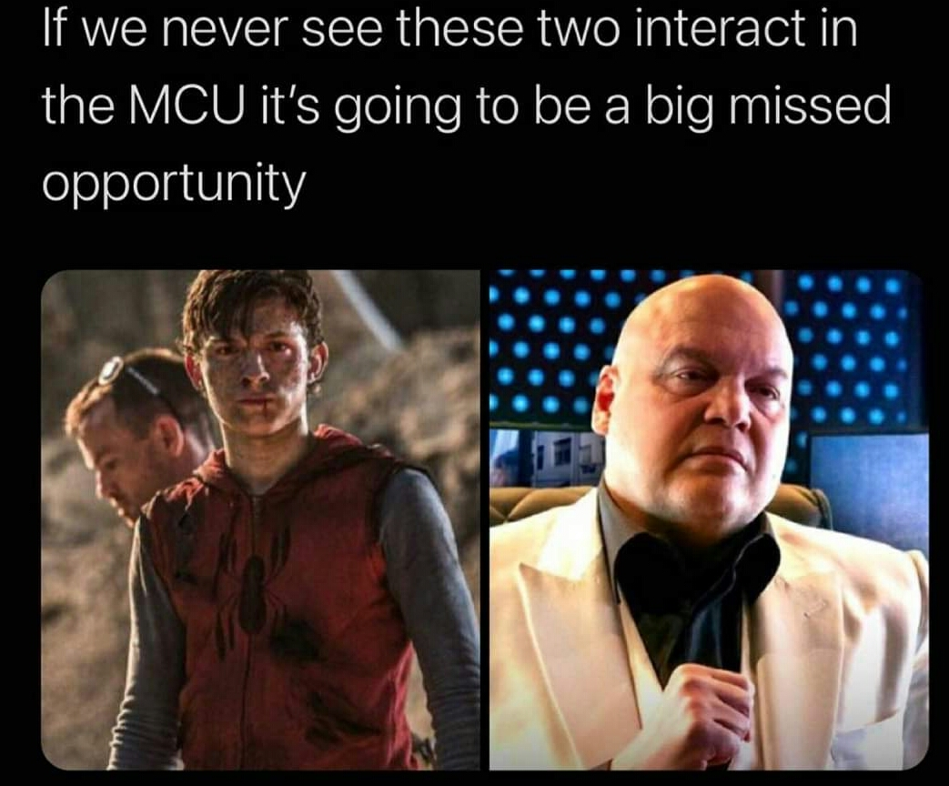 Memes Spiderman and Kingpin Marvel cinematic universe