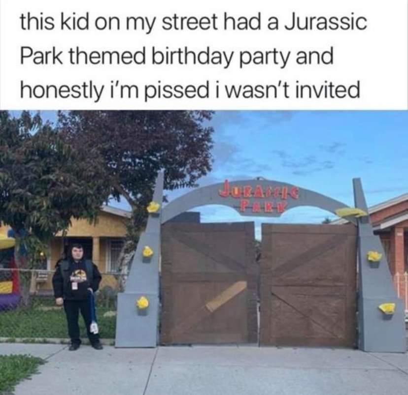Memes jurassic Park birthday party