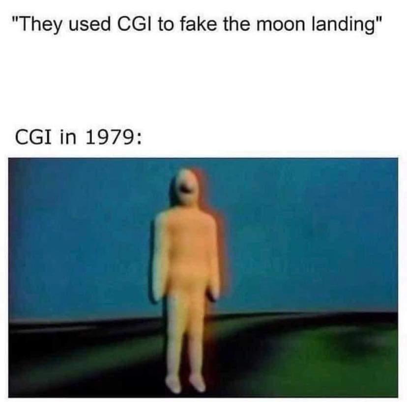 Memes CGI in 1979 Moon Landing