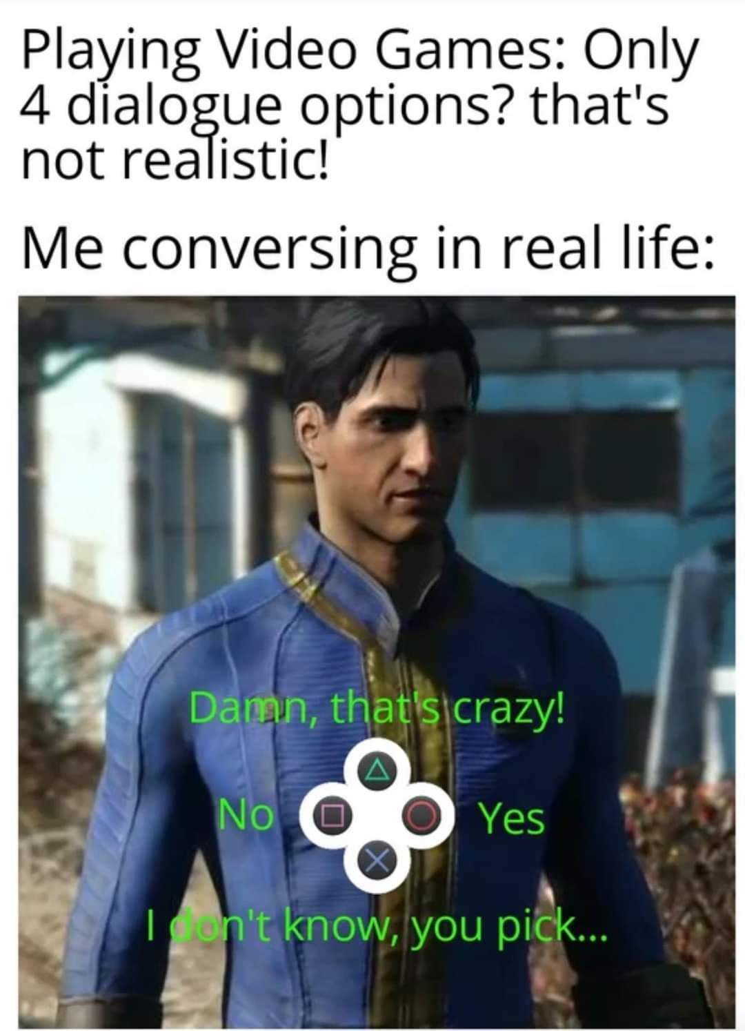 Memes video game dialogue