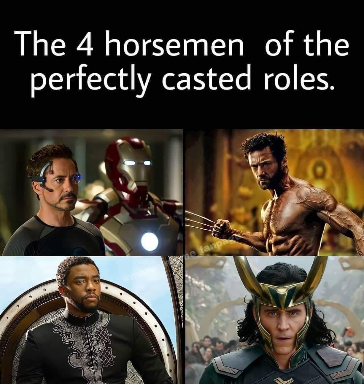 Memes Iron Man wolverine black panther Loki