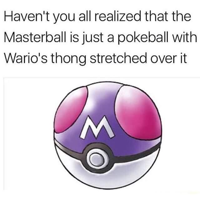 Memes Pokémon master ball
