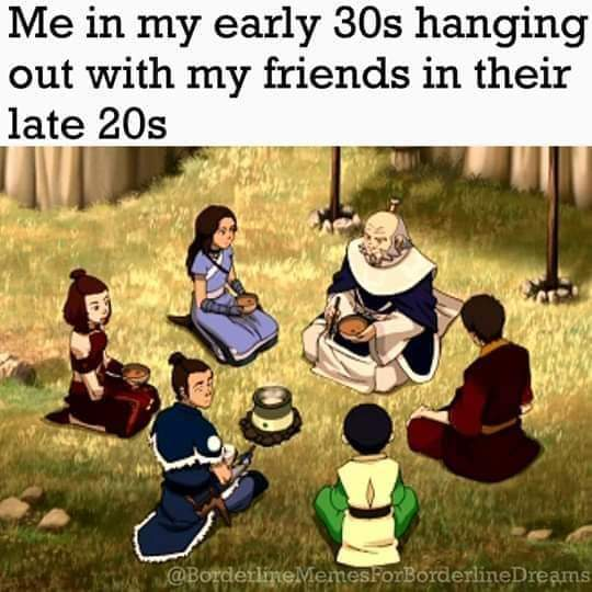 Memes having younger friends
