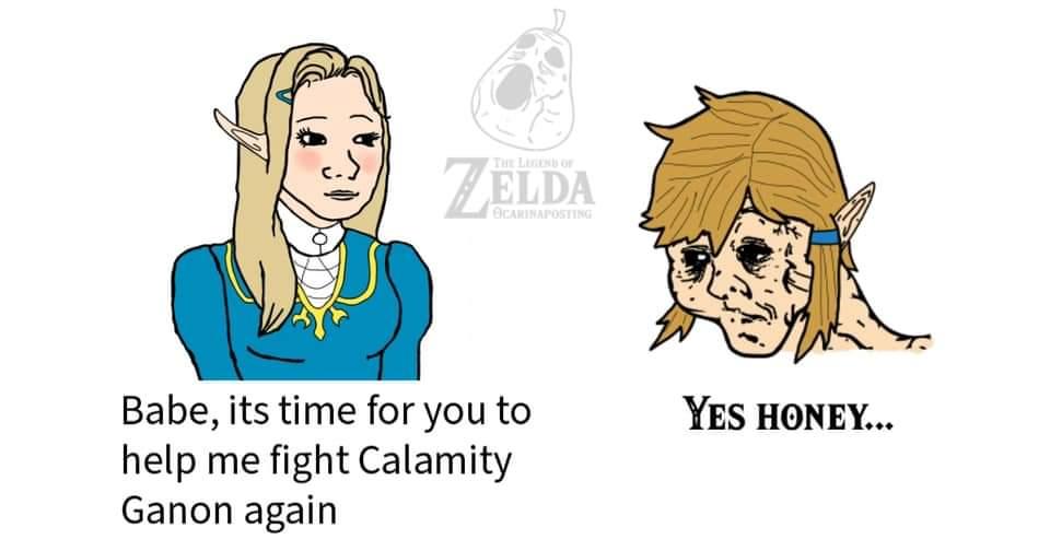 Memes The legend of Zelda breath of the wild fighting calamity Ganon