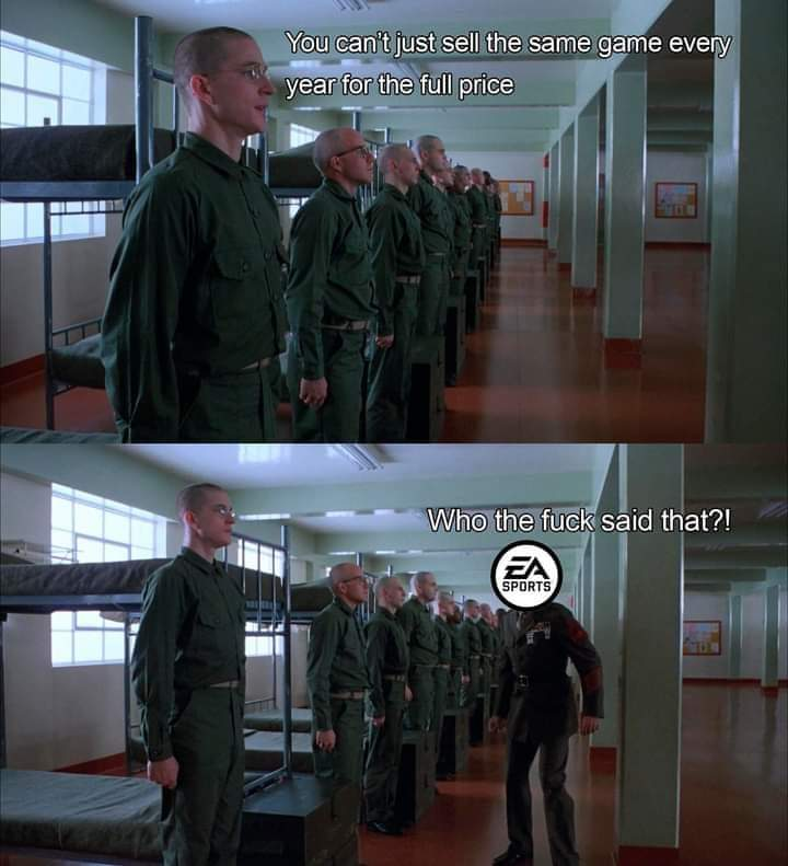 Memes EA sports releasing the same game every year