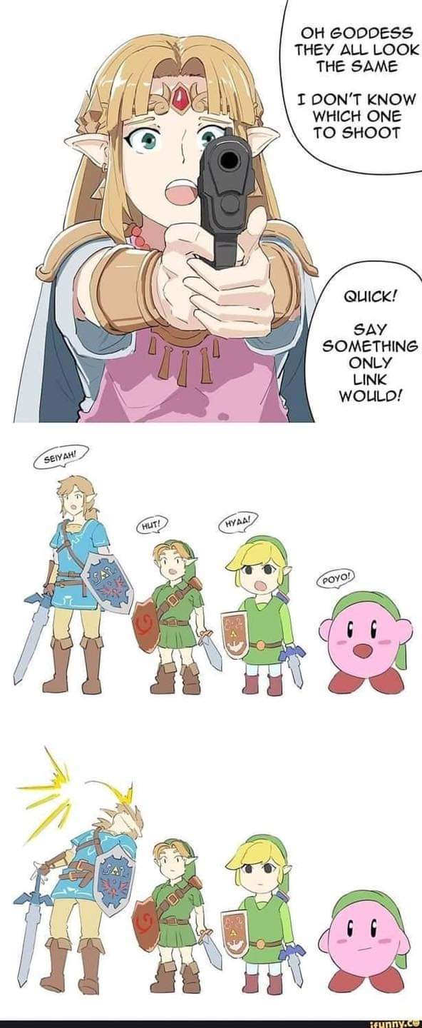 Memes The real link the legend of Zelda Kirby