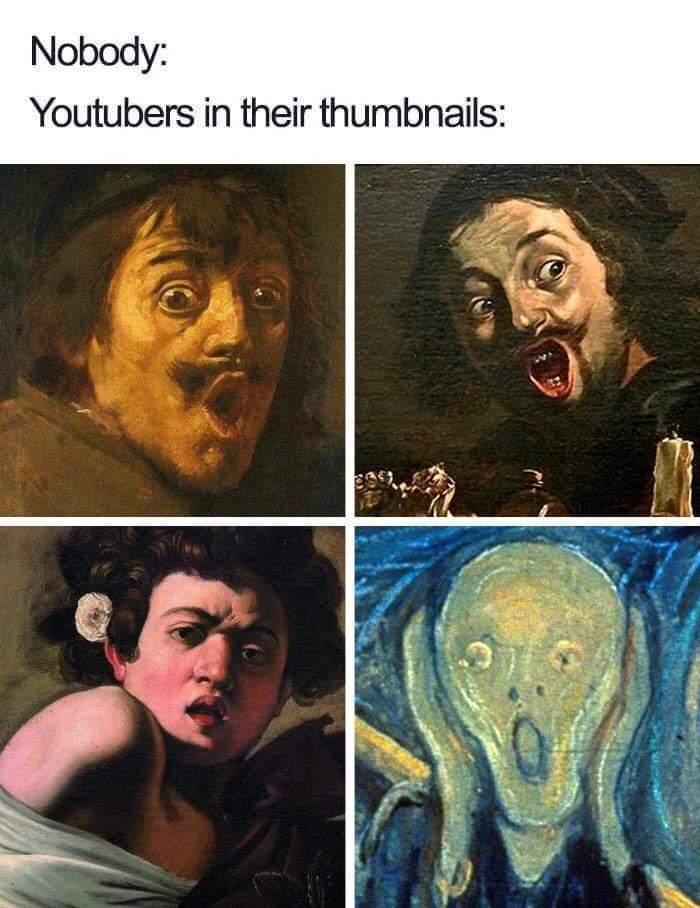 Memes YouTuber thumbnails