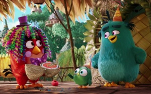Red birthday party clown angry Birds Movie
