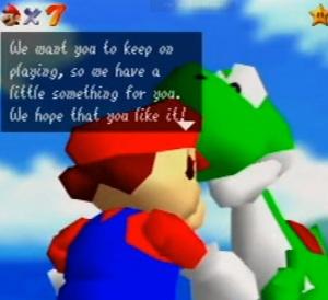Yoshi Cameo Easter egg Super Mario 64 Nintendo 64 N64