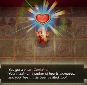 Heart container Facade the Legend of Zelda Link's Awakening Nintendo Switch Remake
