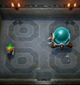Link vs Hardhit Beetle Link's Awakening Nintendo Switch Remake
