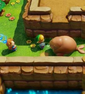 Marin singing for the walrus the Legend of Zelda Link's Awakening Nintendo Switch