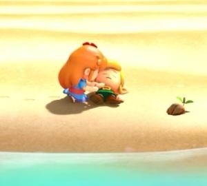 Marin rescues link the Legend of Zelda Link's Awakening Nintendo Switch