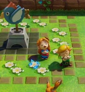 Marin singing while link plays the ocarina the Legend of Zelda Link's Awakening Nintendo Switch