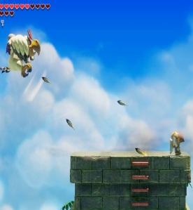 Link vs Evil Eagle Link's Awakening Nintendo Switch Remake