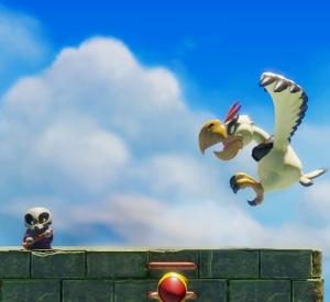 Skeleton and Evil Eagle Link's Awakening Nintendo Switch Remake
