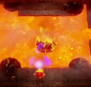 Link using magic rod against Hot Head Link's Awakening Nintendo Switch Remake