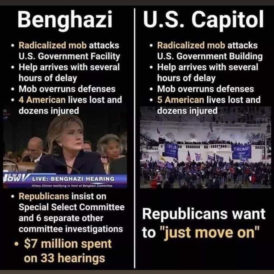 Memes Benghazi versus government Congress riots