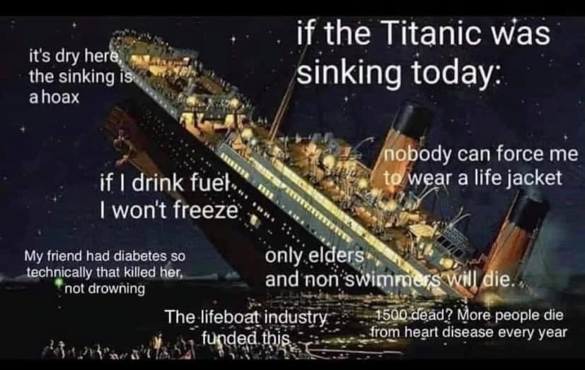 Memes if the Titanic sunk today