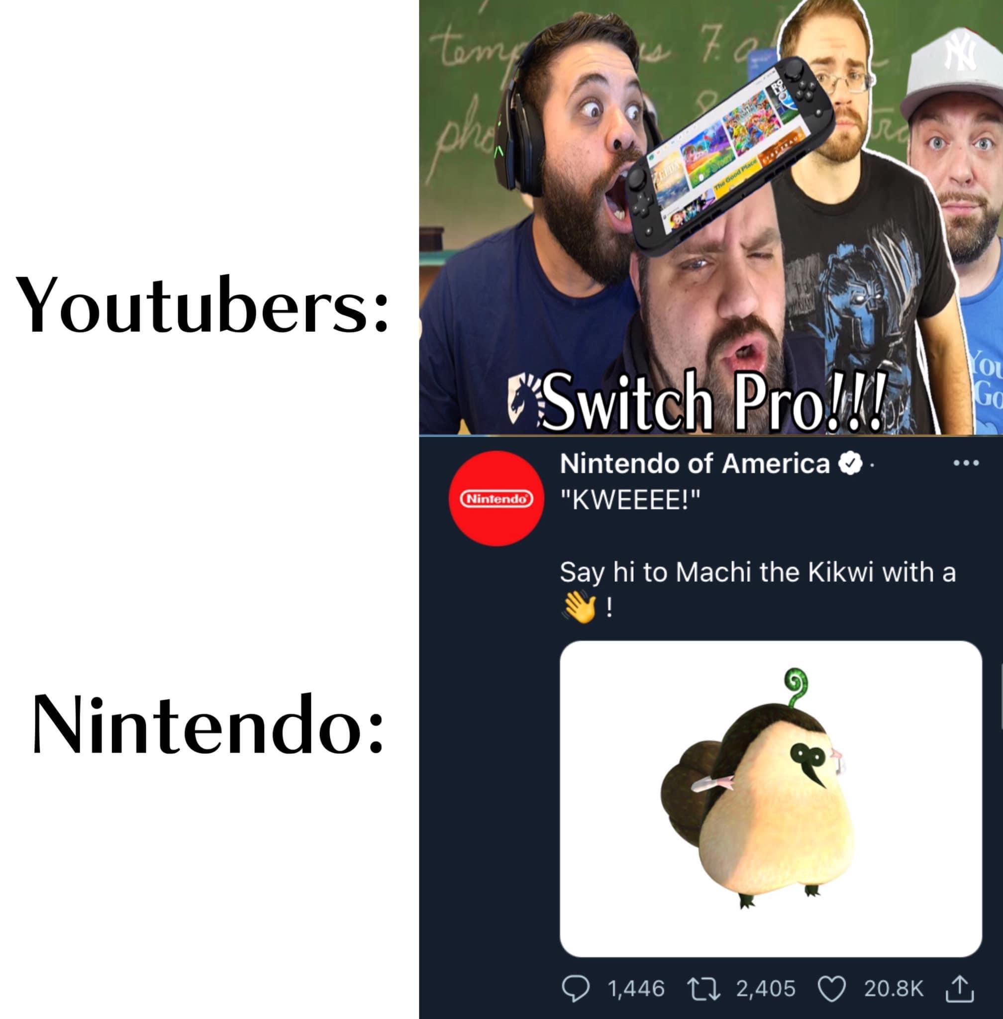 Memes Nintendo switch Pro