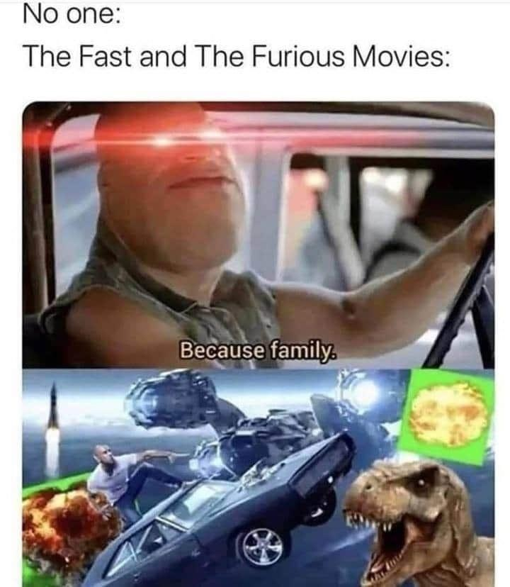 Memes Fast and Furious movies