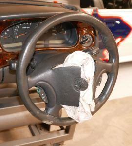 Airbag deflated Buick car