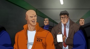 Lex luthor in prison giving interview with Clark Kent All-Star Superman