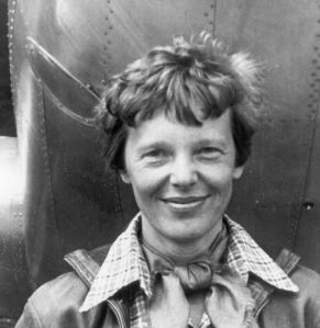 Famous female pilot Amelia earhart