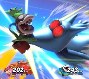 Piranha plant hit by Banjo and Kazooie final Smash super Smash Bros ultimate Nintendo Switch Microsoft Rare
