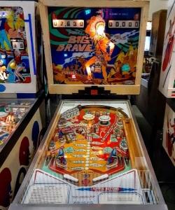 Big brave pinball machine