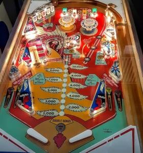 Big brave pinball machine board