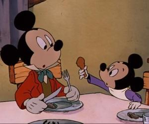 Bob cratchit and tiny Tim Mickey's Christmas Carol