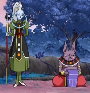 Vados attends to Champa Dragon Ball Super