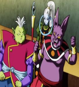 Supreme Kai Champa and Vados cheering for kefla Dragon Ball Super