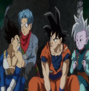 Supreme Kai gives vegeta and goku potara earrings Dragon Ball Super