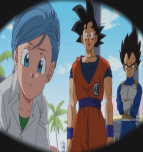 Future trunks wakes up and sees goku Dragon Ball Super