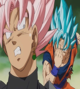 Super Saiyan blue goku VS goku Black rose Dragon Ball Super