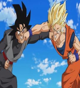 Ssj2 goku VS goku Black first fight Dragon Ball Super