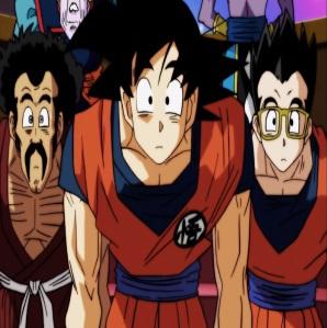 Mr Satan goku and Gohan Dragon Ball Super
