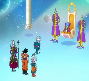 Goku given button by grand Zeno Dragon Ball Super