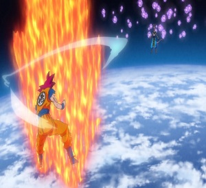 Super Saiyan God goku VS lord Beerus Dragon Ball Super