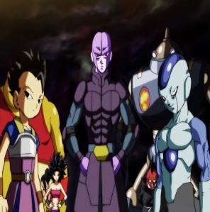 Team universe 6 Hit Cabba frost caulifla Kale Dragon Ball Super